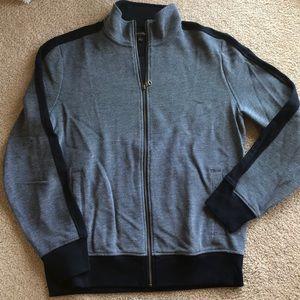 Banana Republic full zip sweater Navy L